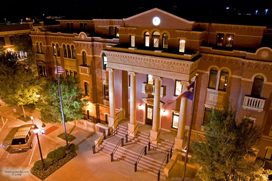 Town Hall building at night
